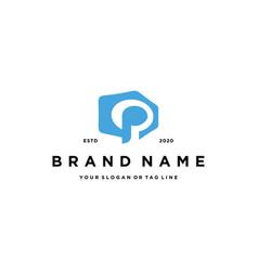 Letter p modern logo design vector