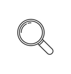 magnifying glass outline icon magnify vector image