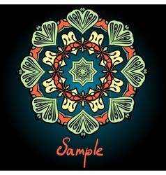 Mandala flyer design Tribal vintage element vector