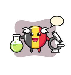 Mascot character belgium flag badge as a vector
