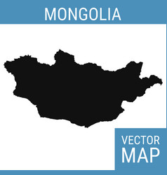 mongolia map with title vector image