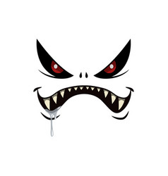 Monster face isolated icon cartoon emotion vector
