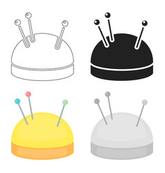 Needles and pillow icon of for vector