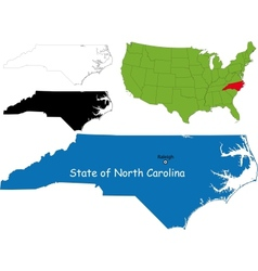 North carolina map vector image