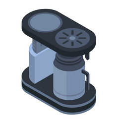 Old coffee maker icon isometric style vector