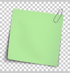 Paper mockup yellow note attached vector