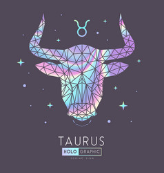 Polygonal astrology taurus zodiac sign vector