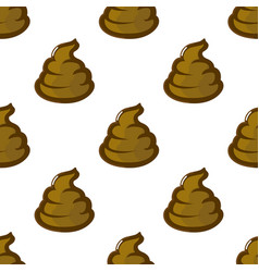 poop shit turd seamless pattern vector image