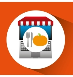 Pumpkin online shopping app vector