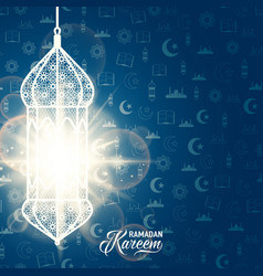 ramadan kareem blue color vector image