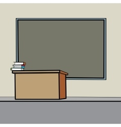 School Desk blackboard vector image