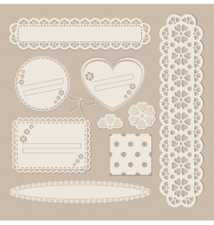 Scrapbook set with different elements - scrapbook vector