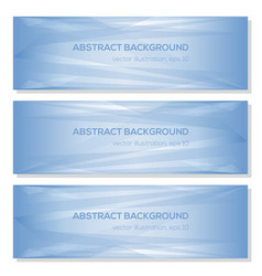 Set blue abstract triangle geometrical background vector