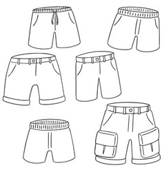 set of shorts vector image