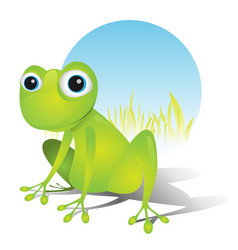 Simple cute frog vector