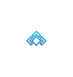 square abstract geometry company logo vector image