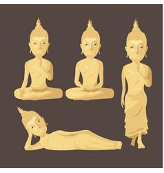 statue buddha figure collection set vector image