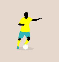 Stylish a football player vector