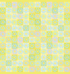 sweet cute flower pattern background vector image