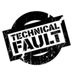 technical fault rubber stamp vector image