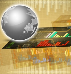 Trade on marketing background vector image