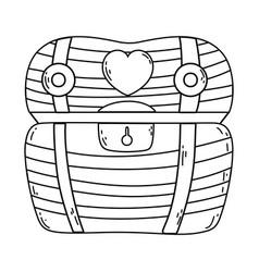 treasure chest cartoon vector image