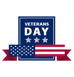 Veterans day logo realistic style vector