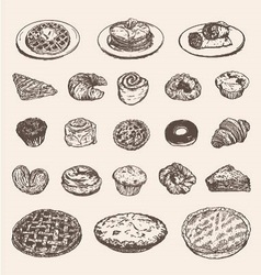 Vintage breakfast collection for your restaurant vector image