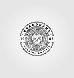 Vintage lion logo design lion animal emblem design vector