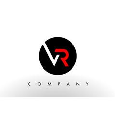 vr logo letter design vector image
