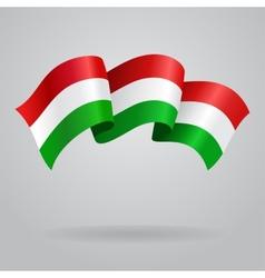 Waving hungarian flag vector