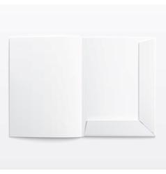 White empty open folder vector image