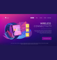 wireless connectivity concept landing page vector image