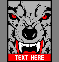 Wolf with pointed teeth vector