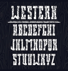 Bold serif font in the western style vector image