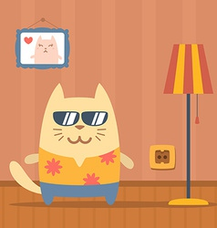 Character tourist wearing sunglasses and a shirt vector image vector image
