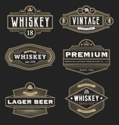 Vintage frame design for labels banner logo emblem vector