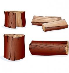 wood log vector image vector image