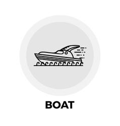 Boat Line Icon vector image