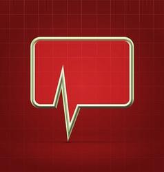 Medical forum application alert icon vector image