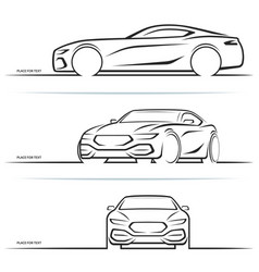 sports car silhouettes vector image vector image