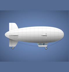 black airship pirate air transport vector image