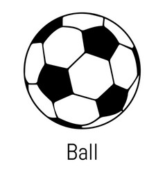 football ball icon simple black style vector image vector image