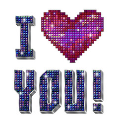 I love you - inscription isolated on the white vector image