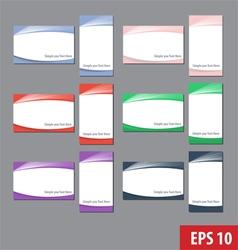 Namecard templates colorful set vector image