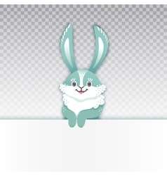 Smiling cartoon rabbit Funny bunny Cute hare vector image