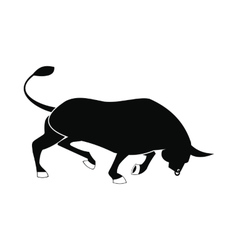 Bull icon simple style vector image vector image
