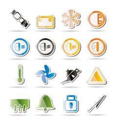 car dashboard icons vector image