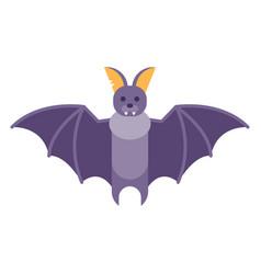 flat style of bat vector image