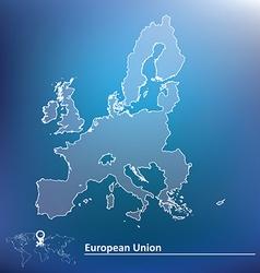 Map of European Union 2015 vector image